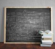 Blackboard with drawing formulas Stock Photo