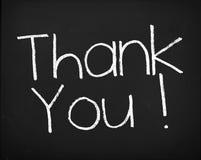 blackboard dziękować ty zdjęcia royalty free