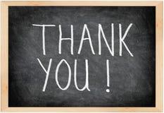 blackboard dziękować ty Zdjęcie Stock