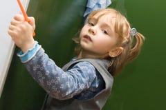 blackboard dziewczyny obmycia Zdjęcia Royalty Free