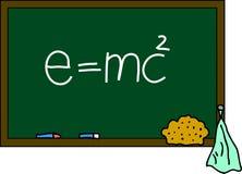 Blackboard e=mc2 Stock Photos