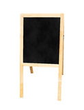 Blackboard with easel in studio room,Template for your content. Royalty Free Stock Photos