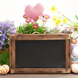 Blackboard, easter time Stock Image