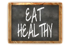 Blackboard Eat Healthy Stock Image