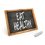 Blackboard Eat Healthy Royalty Free Stock Image