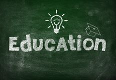 Blackboard with education Royalty Free Stock Photography