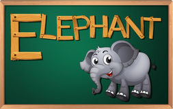A blackboard with an elephant Stock Photography