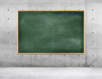 Blackboard In An Empty Room Stock Photos