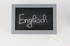 Blackboard english with chalk Royalty Free Stock Image
