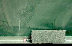 Blackboard with Eraser Stock Photos