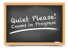 Blackboard Exam Royalty Free Stock Images