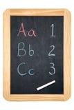 blackboard för abc 123 Fotografering för Bildbyråer