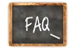 Blackboard FAQ Fotografia Stock