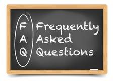 Blackboard FAQ Zdjęcie Royalty Free