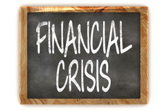 Blackboard Financial Crisis Stock Photography