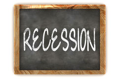 Blackboard Financial Crisis. A Colourful 3d Rendered Illustration of a Blackboard Showing Financial Crisis Stock Image