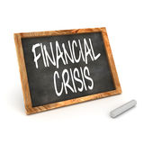 Blackboard Financial Crisis Royalty Free Stock Images