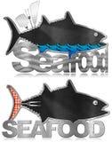 Blackboard Fish Shaped - Seafood Menu Stock Photography