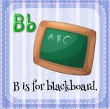 Blackboard. Flashcard letter B is for blackboard stock illustration