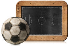 Blackboard with Football Field and Ball Stock Photography