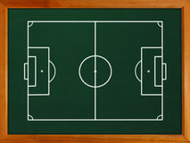Blackboard with football field Royalty Free Stock Photo