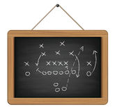 Blackboard with football tactic Royalty Free Stock Photography