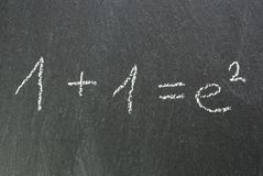 Blackboard, doing things more complicated as they are. A blackboard with a formula which symbolizes doing things more complicated as they are Stock Photography