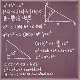 Blackboard with formulas and equations. Royalty Free Stock Photos