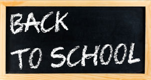 Blackboard frame with written back to school, school education concept Stock Photo