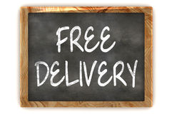 Blackboard Free Delivery Royalty Free Stock Photos
