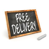 Blackboard Free Delivery Royalty Free Stock Photography