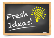 Blackboard Fresh Ideas Stock Photography