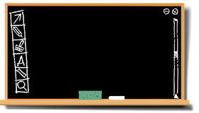 Blackboard with funny desctop. Illustration of a vintage blackboard with funny desctop royalty free illustration