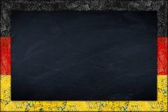 Blackboard with german flag frame Stock Image