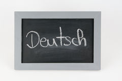 Blackboard german Stock Photos