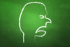 blackboard gniewna twarz Zdjęcie Stock