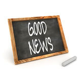 Blackboard Good News Royalty Free Stock Photos