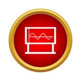 Blackboard with graph icon, simple style Stock Photo
