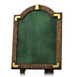 Green Board Old Wood Stock Photo