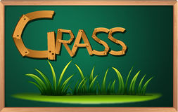 A blackboard with grass Royalty Free Stock Photo