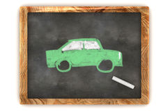 Blackboard Green Car Stock Images