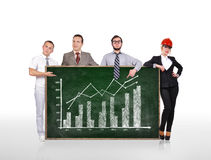 Blackboard with growth chart Stock Photo