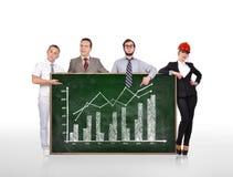 Blackboard with growth chart Stock Photo