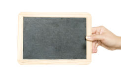 Blackboard in the hand Stock Images