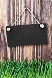 Blackboard hanging Stock Photography