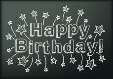 Blackboard with Happy Birthday Stock Photo