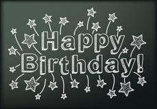 Blackboard with Happy Birthday Stock Photo