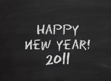 Blackboard happy new year. Blackboard or Chalkboard Message - Happy New Year 2011 Stock Images