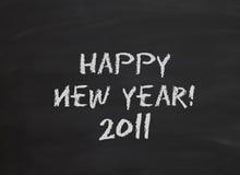 Blackboard happy new year Stock Images