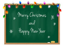 Blackboard Happy New Year Stock Images